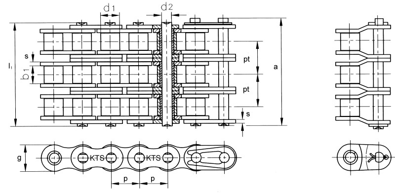 Keilriemenscheibe SPA 140 x 3 Buchse SPA140-3