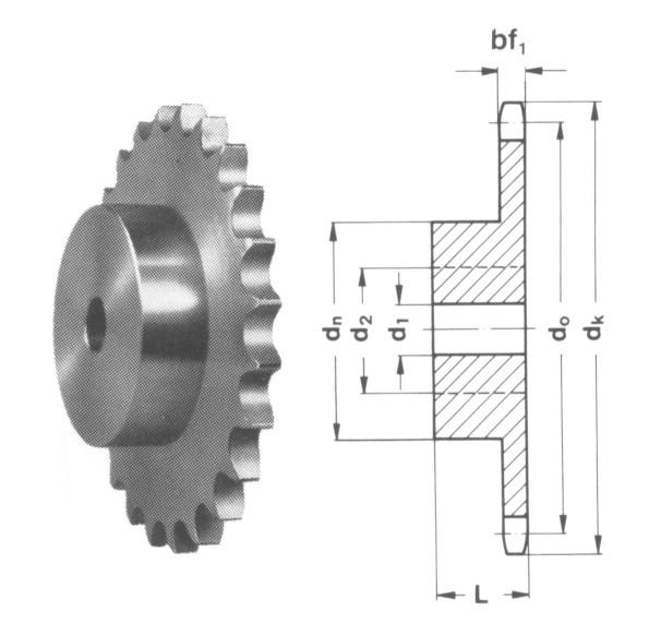 8mm Steel Roller Chain Simplex Sprocket Pilot Bore 05B-1-50 50 Tooth