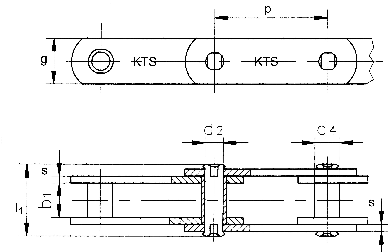 conveyor chain acc to din 8167 english